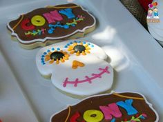 The cookies at this Coco movie Birthday Party are awesome!! See more party ideas and share yours at CatchMyParty.com #catchmyparty #cocothemovie #cookies
