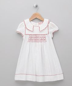 White Victoria Dress - Infant, Toddler & Girls by Powell Craft on #zulily today!