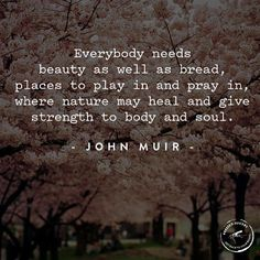 ...nature may heal and give strength to body and soul.