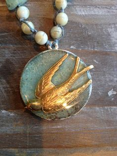 swallow stones sea assemblage necklace by maxandlucie on Etsy
