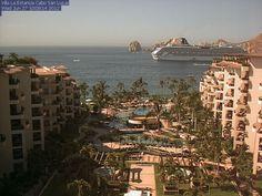 Live webcam view of Cabo San Lucas Bay from Villa la Estancia Beach Resort. #Mexico #Travel