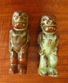 Vintage Pottery Frankoma Tiki God Salt Pepper Shakers RARE Hawaii Polynesia | eBay