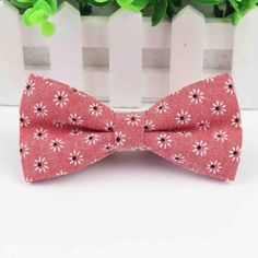floral bow ties are the SH*T. If you are a Bow Tie Babe and you don't already own a floral bow tie, email our top babe S Paisley Flower, Tie Pattern, All Tied Up, Butterfly, Bows, Floral, Flowers, Cotton, Pink