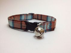 Breakaway Adjustable Cat Collar with Bell  by ShortcakeDesigns, $9.00
