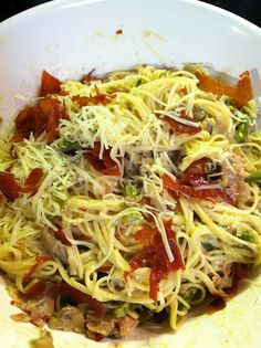 Asparagus, parmesan & prosciutto pasta