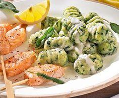 Rezept Spinatgnocchi mit Lachs von markus79m - Rezept der Kategorie Hauptgerichte mit Fisch & Meeresfrüchten