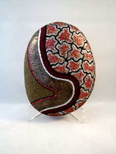 Unique Painted Rock Ornament for Home or Office by IshiGallery