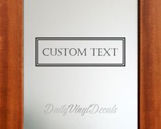 Custom Door Decal - Custom Pantry Decal Laundry Decal Bathroom Decal - Custom Sign Decal - Create a custom sign for your home -