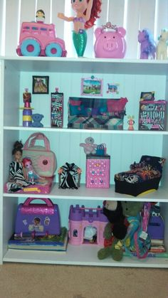 Diy bookcase doll house. I made the furniture, photos and doll clothes for my baby girl...she loves it!!