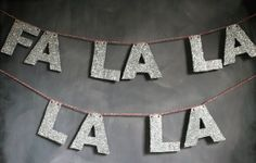 Eclair- Glittered Holiday Garland