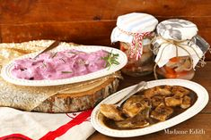 Herring in a Sauce. Herring in: blueberry-rosemary and coffee-mustard sauce. [in Polish with translator] Sauce Recipes, Seafood Recipes, Limoncello, Camembert Cheese, Blueberry, Mustard, Good Food, Brunch, Pork
