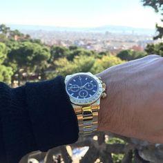 Rolex Daytona Yellow Gold Over Looking Barcelona City  #watches #new #used #rolex #audemarspiguet #hublot #richardmille #follow #alert #love #gold #watchporn #tourbillon #womw #dope #sick #art #sports #lv #titanium #carbon #luxury #time #timepiece #iwc #panerai #officialwatchss #gold #18k #like by officialwatches_george