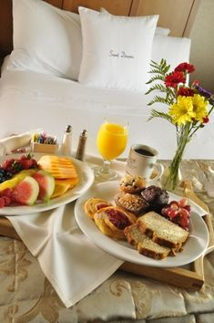 Breakfast in bed with 24 hours notice. thank you.