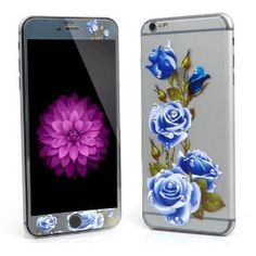 iPhone 6 Screen Protector, RundA Front and Back 3D Ultra Thin Clear Films Glitter Bling Crystal Rhinestone Diamond Tempered Glass Screen Protector for Apple iPhone 6/6S (4.7) (BlueLover)  https://www.amazon.com/dp/B01EHT2MV4