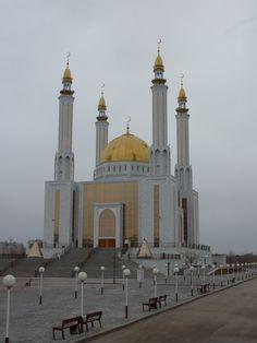 A mosque in Aktobe, Western Kazakhstan