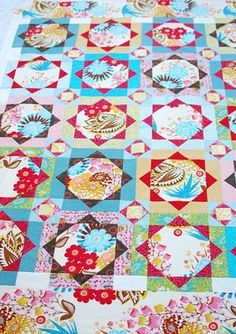 Love this quilt pattern! 'Strawberry Fields' by Sarah Fielke in 'Material Obsession Book 1'.