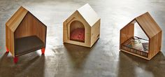 Cute beds for a cat or small dog; would be pretty easy to DIY.