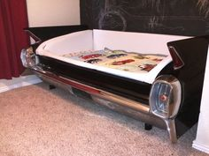 1962 cadillac kids bed. Super Awesome.