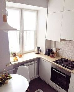 Exceptional modern kitchen room are readily available on our site. Check it out and you wont be sorry you did. Small Apartment Kitchen, Home Decor Kitchen, Interior Design Kitchen, New Kitchen, Home Kitchens, Kitchen Small, Awesome Kitchen, Small House Kitchen Ideas, Tiny Kitchens