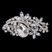 Fashion Women Wedding Scarf Crystal Rhinestone Brooch Pin White Jewelry(China (Mainland))