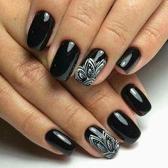 Elegant Black And White Nail Art Designs You Need To Try; Elegant Black And White Nail Art Designs; Elegant Black And White Nail; Black And White Nail; Black And White Nail Art Designs; Black Nail Designs, Cool Nail Designs, Acrylic Nail Designs, Accent Nail Designs, Acrylic Nails, Winter Nail Art, Winter Nails, Summer Nails, Spring Nails