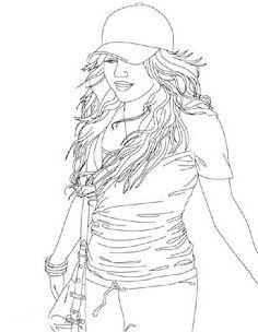 Hannah Montana5 Coloring Page - Free Hannah Montana Coloring Pages :  ColoringPages101.com | 304x236