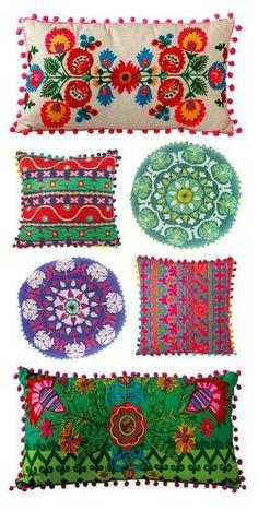 Beautiful Bohemian Pillows I'm Vibrant Colors. More