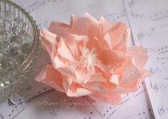 Paper peony decorations. Baby shower by FlowerVoyageBoutique