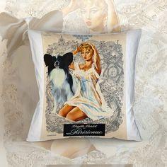 Papillon Dog Art Pillow Case Throw Pillow - #housewares #pillow @EtsyMktgTool #dogpillow #cottonfabric #homedecor #decorativepillow