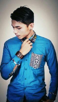 Mavazi summer menswear - Dayak classic tribal pattern in modern style