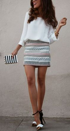 love the skirt, love the shoes, love the bag and love the top