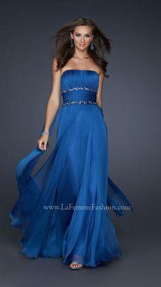 La Femme 17264 | royal blue bridesmaids dress