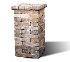Easy landscape column.. Sides of drive entrance for pots?