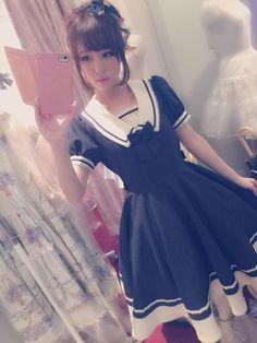 kawaii sailor style dress