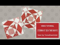 Video tutorial: Storm at sea two ways - foundation piecing - YouTube