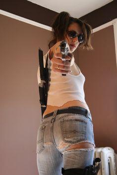 Artist Reference   Figure Study   Pose   Shelly Zombie Hunter Stock by ~KINGZOMBIE-STOCK on deviantART