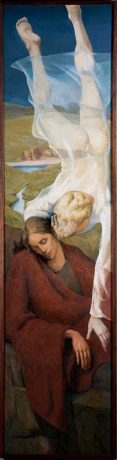 The Annunciation (1993) by Lydio Bandeira de Mello (b. 1929), Brazilian works in the fresco tradition (bandeirademello)
