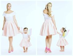 Mom daughter matching outfits are perfect to sport on the mother's day. Explore unique ideas for stylish and gorgeous matching dresses for mother and daughter Homecoming Outfits, Prom Party Dresses, Mom Daughter Matching Outfits, Party Fashion, Fashion Outfits, Mother Daughter Fashion, Teen Girl Outfits, Casual Work Outfits, Matching Clothes