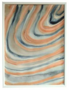 """Coral and Blue Agate"" by Jennifer Ament, $595, 22.5"" x 30"", available at Serena & Lily. #serenaandlily"