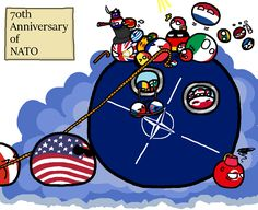Anniversary of NATO : Polandballart User Settings, 70th Anniversary, Country Art, Funny Relatable Memes, Good Old, Cool Drawings, Art Pictures, Picture Video, Art Pieces