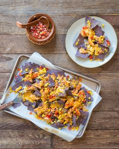 BBQ Chicken & Corn Nachos – Make use of your Crockpot chicken with this healthy take on loaded nachos.