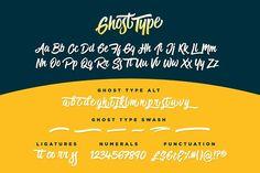 Ghost Type by Sam Parrett on @creativemarket