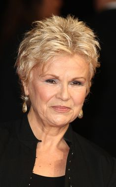 """Julie Walters Photos – Julie Walters attends """"The Harry Hill Movie"""" World Premiere at Vue Leicester Square on December 2013 in London, England. – 'The Harry Hill Movie' Premieres in London Short Hair Over 60, Short Grey Hair, Very Short Hair, Short Hair With Layers, Short Hair Cuts For Women, Mom Hairstyles, Short Hairstyles For Women, Over 60 Hairstyles, Short Hair Model"""