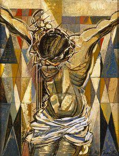 Jesus Christ God the Father Holy Spirit Crucifixion, 1957, Roy de Maistre