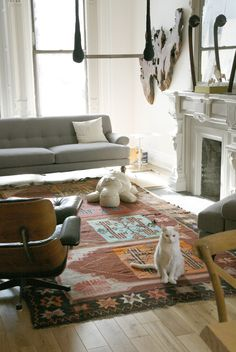 kilim and eames chair