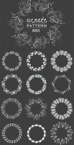 Ornate Vector Pattern Brushes... FREE // & more free resources
