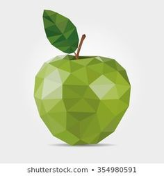 Find Polygonal Green Apple Vector stock images in HD and millions of other royalty-free stock photos, illustrations and vectors in the Shutterstock collection. Arte Pop, Geometric Drawing, Geometric Shapes, Painting Lessons, Art Lessons, Cool Wallpapers For Computer, Interior Design Principles, Apple Vector, Polygon Art