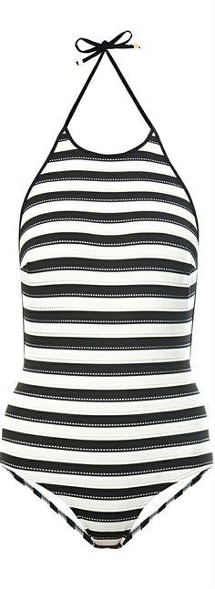 Chloé ● Horizontal stripe Swimsuit