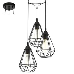 LAMPADARIO A SOSPENSIONE TRIPLA GABBIA TARBES COLORE NERO... https://www.amazon.it/dp/B011KP58VO/ref=cm_sw_r_pi_dp_x_E59Fyb8KX9NF4