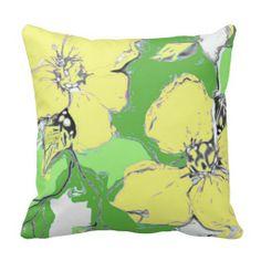 Green & Yellow Throw Pillow